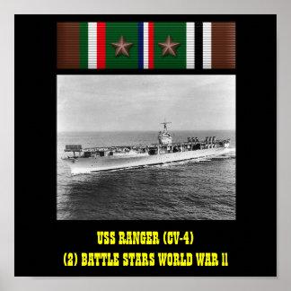HET POSTER VAN USS VAN DE BOSWACHTER (CV-4)
