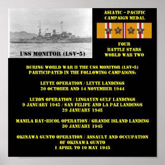 HET POSTER VAN USS VAN DE MONITOR (LSV-5)