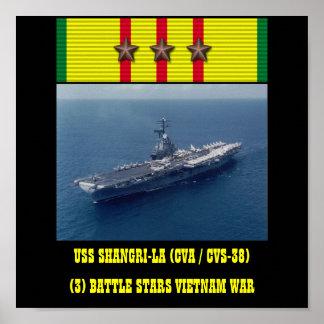 HET POSTER VAN USS VAN DE SHANGRI-LA (CVA/CVS-38)