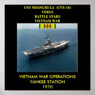 HET POSTER VAN USS VAN DE SHANGRI-LA (CVS-38)