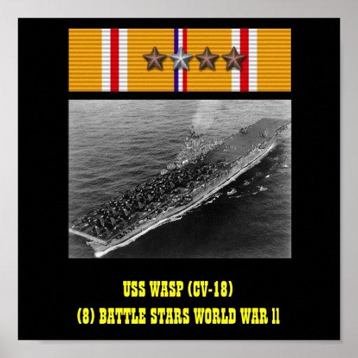 HET POSTER VAN USS VAN DE WESP (CV-18)