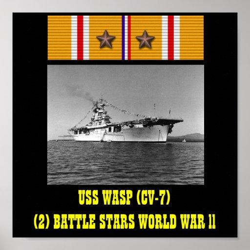 HET POSTER VAN USS VAN DE WESP (CV-7)