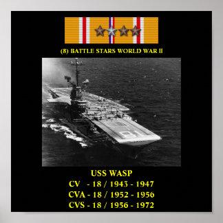 HET POSTER VAN USS VAN DE WESP (CV/CVA/CVS-18)