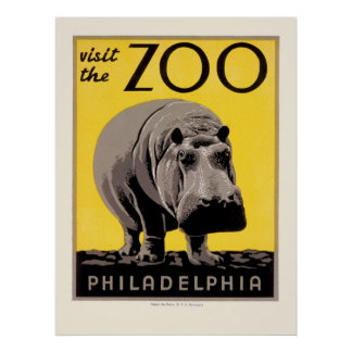 Het Poster van WPA voor de Dierentuin van Philadel