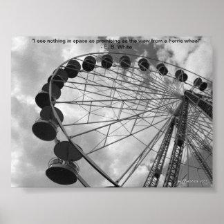 Het poster w/quote van het reuzenrad