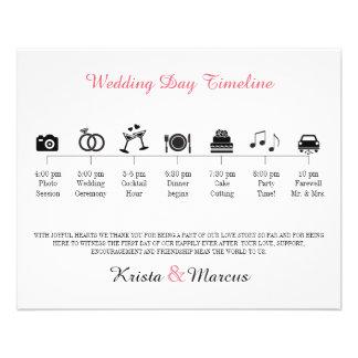 Het Programma van de Chronologie van het Huwelijk Flyer 11,4 X 14,2 Cm