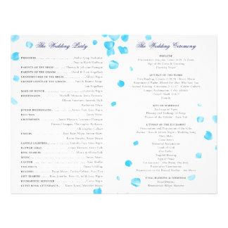 Het Programma van het huwelijk Gepersonaliseerde Folder