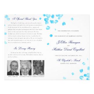 Het Programma van het huwelijk Folders