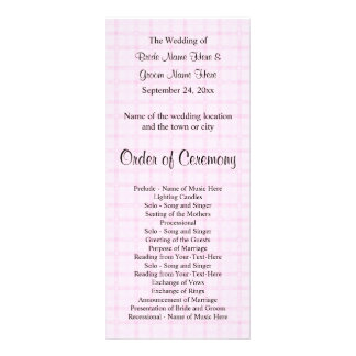 Het Programma van het huwelijk in Bord - roze