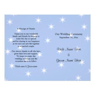 Het Programma van het huwelijk in Lichtblauw met Flyer 21,6 X 27,9 Cm
