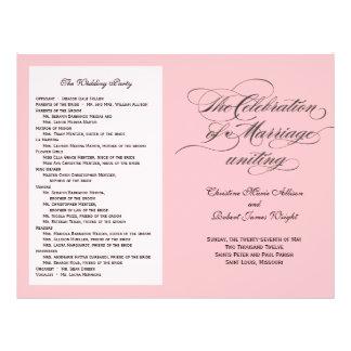 Het Programma van het Huwelijk van Custom_Blush Flyer 21,6 X 27,9 Cm