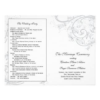 Het Programma van het Huwelijk van Custom_Pewter Flyer 21,6 X 27,9 Cm