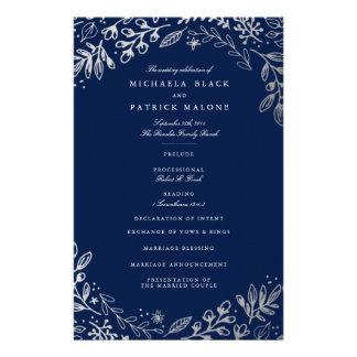 Het Programma van het Huwelijk van de Bloemen van Flyer 14 X 21,6 Cm