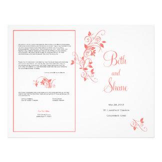 Het Programma van het Huwelijk van de douane - Kor Fullcolor Folder