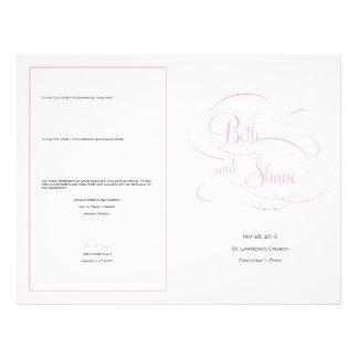 Het Programma van het Huwelijk van de douane - Roz Persoonlijke Folder