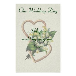 Het Programma van het Huwelijk van het Briefpapier