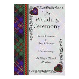 Het programma van het Huwelijk van het geruite 12,7x17,8 Uitnodiging Kaart
