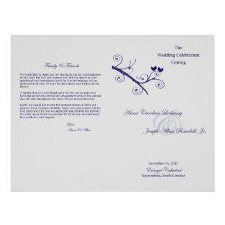 Het Programma van het Huwelijk van Lockamy Flyer 21,6 X 27,9 Cm