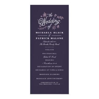 Het Programma van het Huwelijk van Wildflower 10,2x23,5 Uitnodiging Kaart