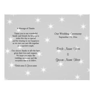 Het Programma van het huwelijk, verbleekt Grijs Flyer 21,6 X 27,9 Cm