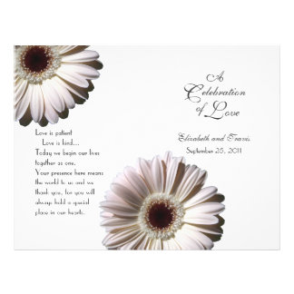Het Programma van het Madeliefje van het huwelijk Persoonlijke Folder