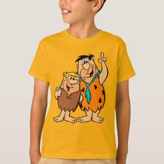 Het Puin en Fred Flintstone van Barney T Shirt