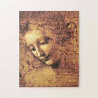 Het Raadsel van La Scapigliata van da Vinci Legpuzzel