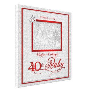 Het robijnrode Jubileum van het Huwelijk - Canvas Afdrukken
