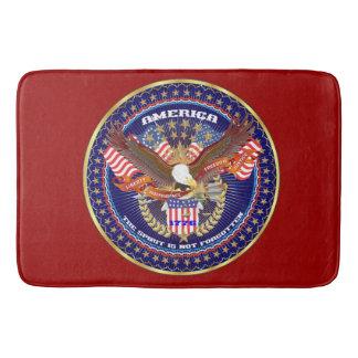 Het Robijnrode Rood van de patriottische Badmat
