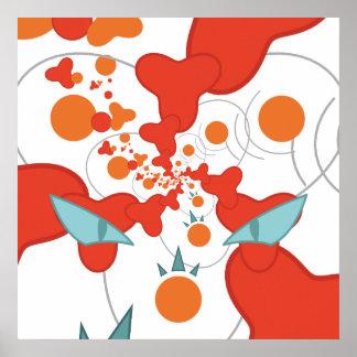 Het rode abstracte Poster van de Kunst