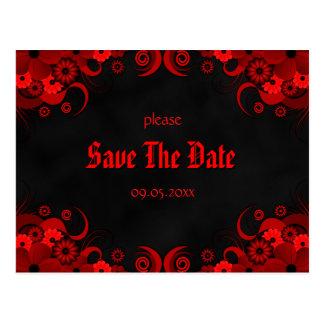 Het rode BloemenBord bewaart de Aankondigingen van Briefkaart