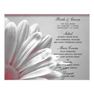 Het rode BloemenMenu van het Huwelijk van Hoogtepu Folders