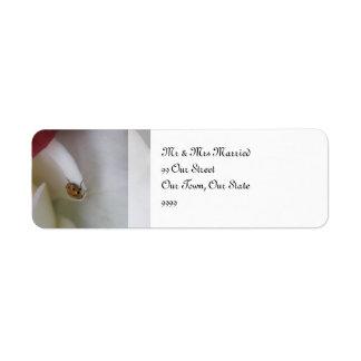 Het rode en Witte Huwelijk van de Bloemblaadjes Etiket