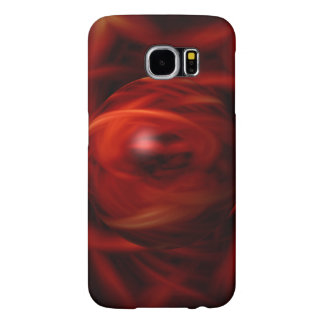 Het rode Gebied van de Brand Samsung Galaxy S6 Hoesje