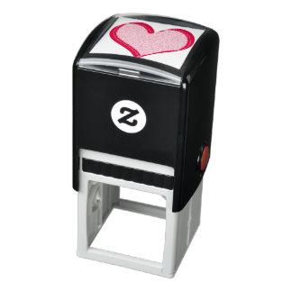 Het rode Gespikkelde Hart van de Valentijnsdag Zelfinktende Stempel