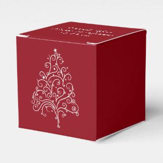 Het rode Huwelijk van de Winter van de Kerstboom Bedankdoosjes