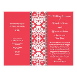 Het rode Witte Programma van het Huwelijk van het Flyer