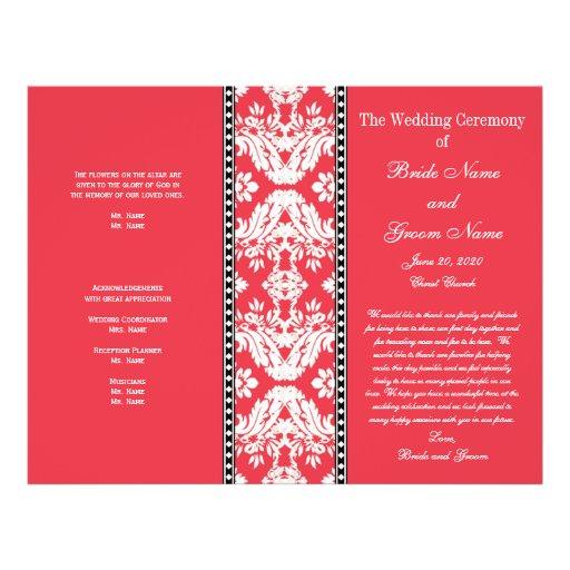 Het rode Witte Programma van het Huwelijk van het  Folders