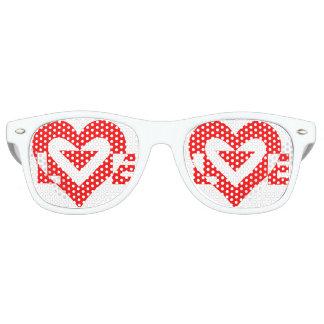 Het Rood van de liefde Retro Zonnebril