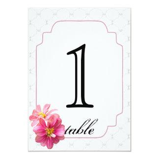 Het roze Aantal van de Lijst van het Jubileum van 12,7x17,8 Uitnodiging Kaart