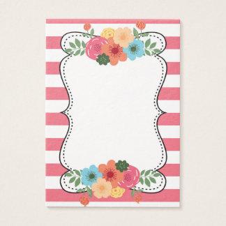 Het roze Gewaagde Visitekaartje van de Bloemen van Visitekaartjes