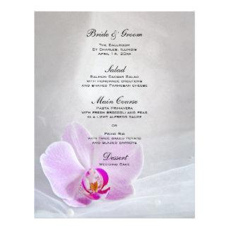 Het roze Menu van het Huwelijk van de Orchidee en Fullcolor Folder