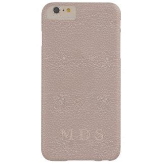 Het roze nam de Initialen van de Douane van het Barely There iPhone 6 Plus Hoesje