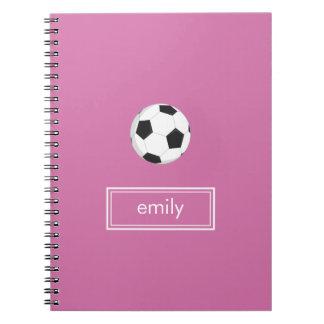 (Het Roze) Notitieboekje van het voetbal Ringband Notitieboek