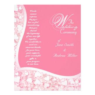 Het roze programma van het Huwelijk Flyer 21,6 X 27,9 Cm