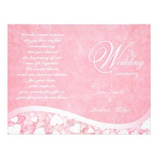 Het roze programma van het Huwelijk van het Flyer 21,6 X 27,9 Cm