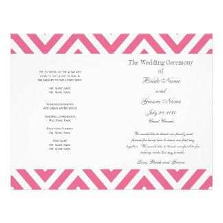 Het roze Programma van het Huwelijk van het Patroo Fullcolor Folder