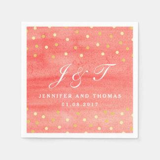 Het roze Servet van het Document van het Huwelijk Papieren Servet