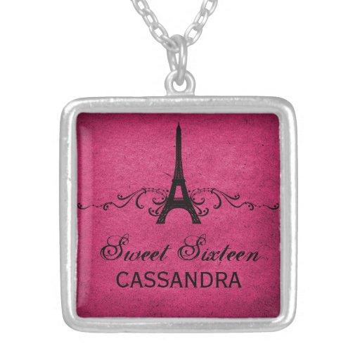 Het roze Vintage Frans bloeit Zoet Ketting 16