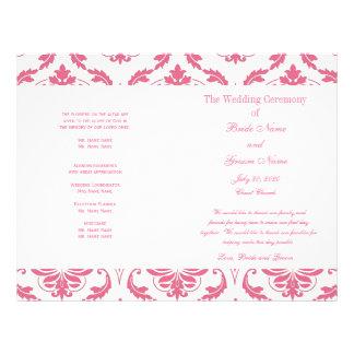 Het roze Vintage Programma van het Huwelijk van he Folder